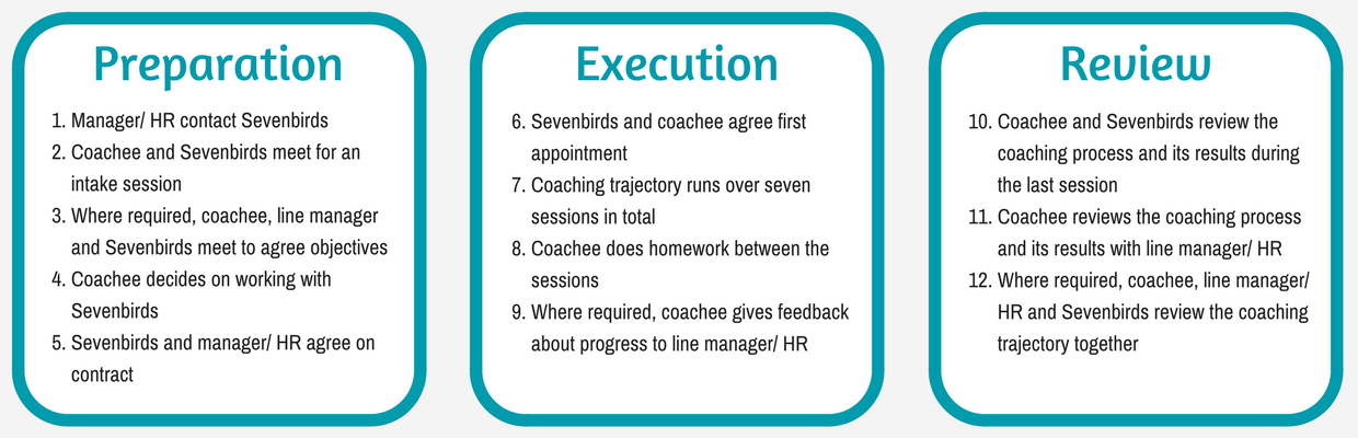Develop your employees: Learn more about the coaching process applied by Sevenbirds.